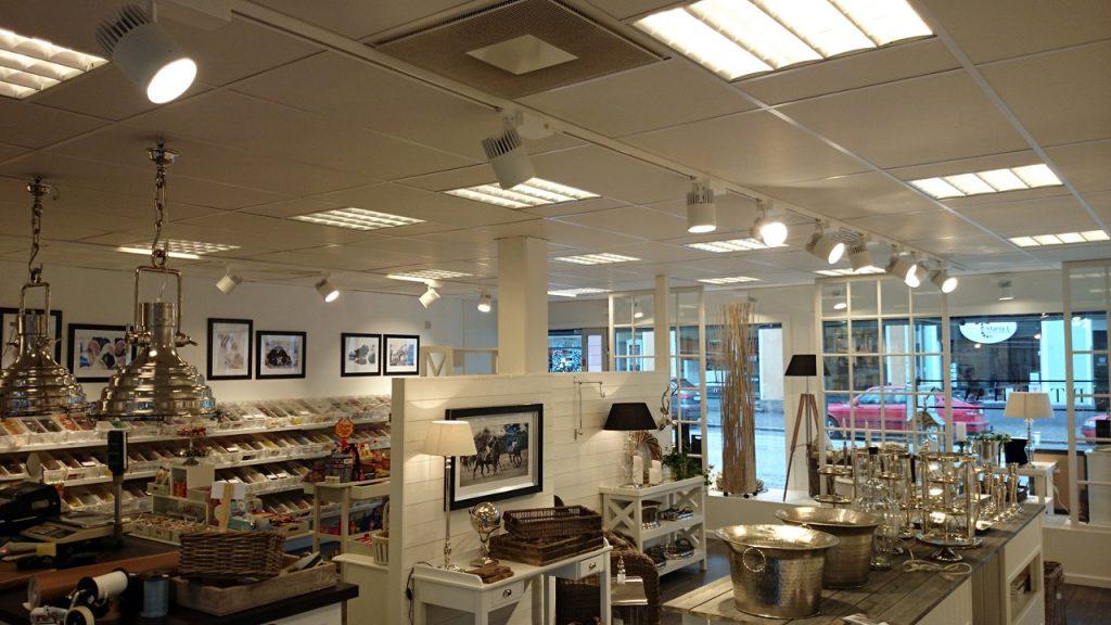 Butik i Limhamn med nya spotlights